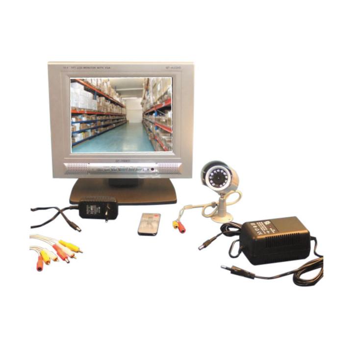 Pack eine farbe kamera ir nacht tag draussen + monitor 18cm lcd tft + schnur 20m.