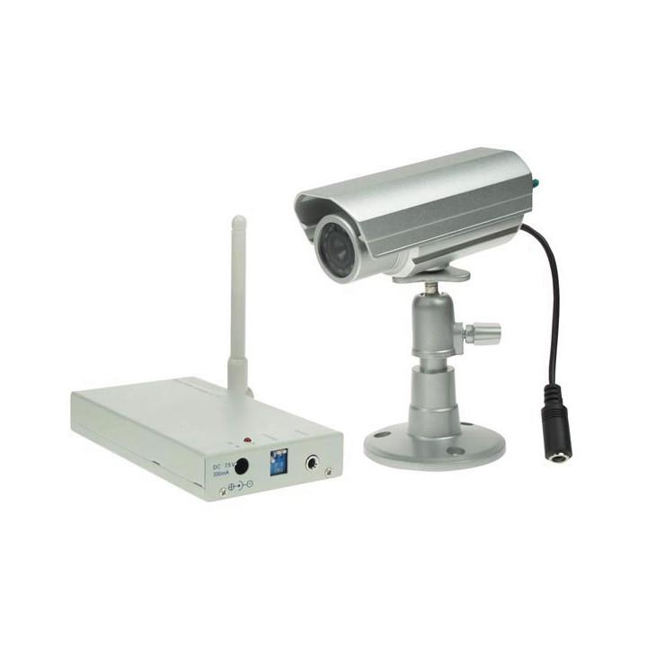 Pack surveillance video couleur etanche 12v 1/4 objectif 1 camera 1 avmod16n recepteur