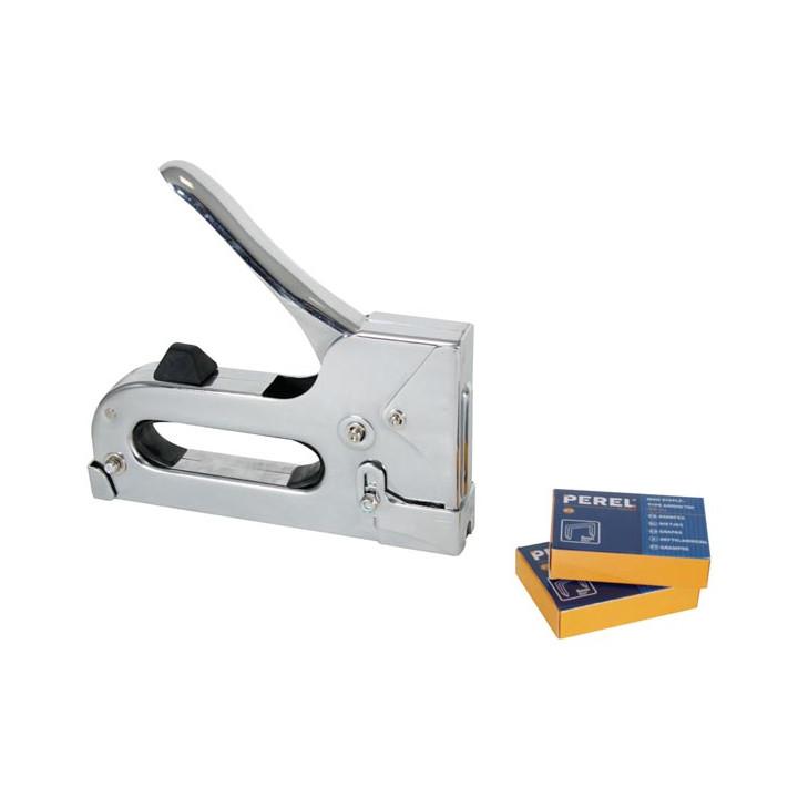 Heavy duty staple gun hst50g for staples from 6 14mm type arrow t50