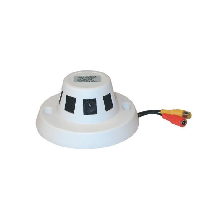 Cámara ccd vigilancia video colorada 12v + objetivo en detector humo cámaras vigilancia