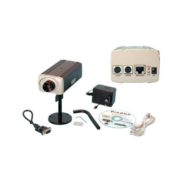 Camara color 12v 1 3'' para red web con direccion ip vigilancia videovigilancia camaras color sistema video vigilancia