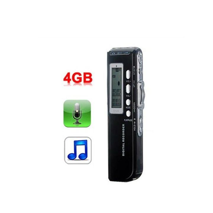 Grabadora digital de voz 4gb micro mp3 + + analógico de grabación de alta calidad opción de teléfono