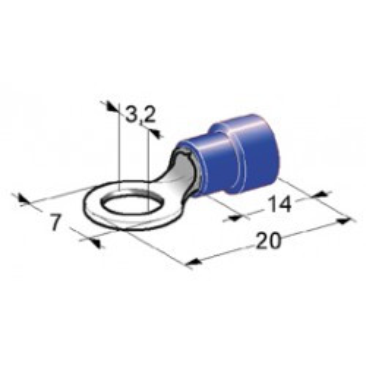 Set of 10 round 3 mm spade blue coir2532vgb