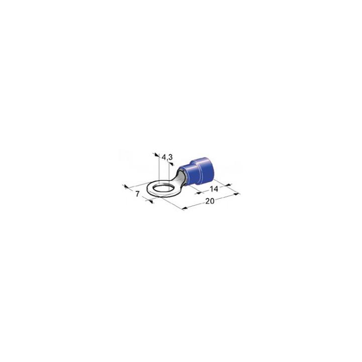 Set of 10 round 4 mm spade blue coie2543vg-b