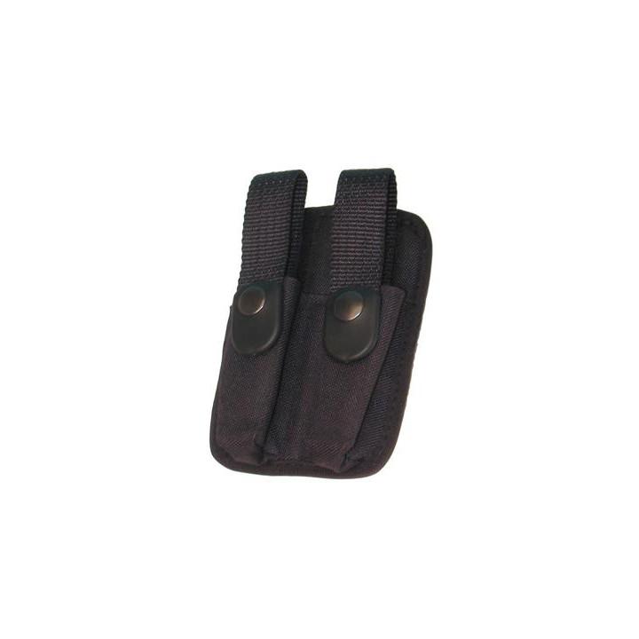 Etui housse cartouche balle cartouchiere double compartiment aerosol defense support ceinture