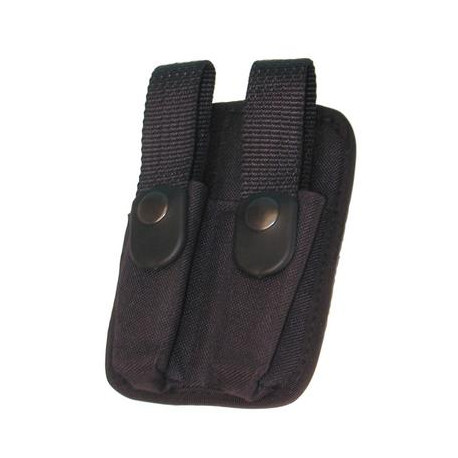 Holster for cartridges double compartment with belt stand holster for cartridges double compartment