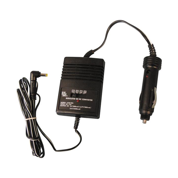 Power 3v 6v 9v cigarette lighter 12v 1200ma mw186 b035e changer