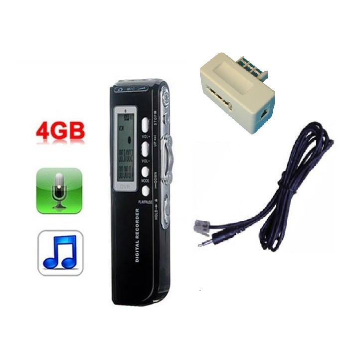 Grabadora digital de voz 4gb micro mp3 analógico de grabación de alta calidad teléfono