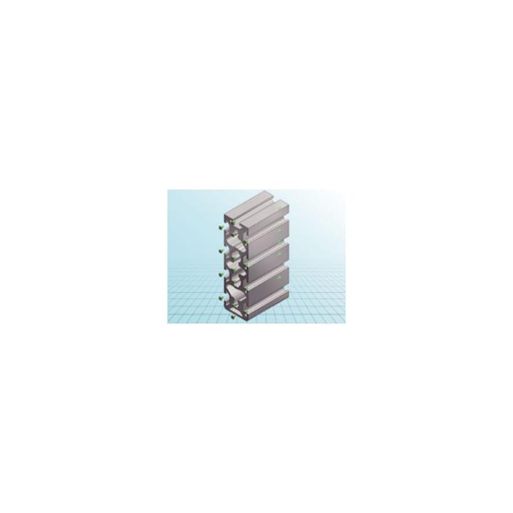 Profilés alu 9 rainures 100x3x10 cm type f fraisage cnc chassis structure meuble haap30x100-9f-1m
