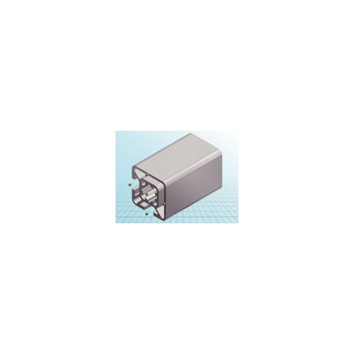 Alluminio profilo 30x30mm 2 piogge f/eq-1m tipo