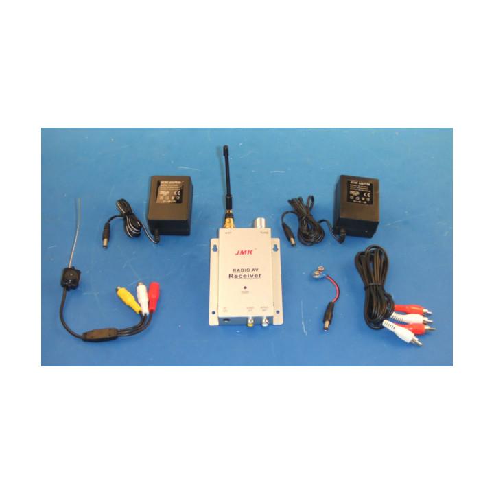 Camara + receptor sin hilo audio video 900 a 1200mhz alcance de 50 a 100m