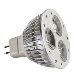 Base gu5.3 mr16 led lamp ø 50 x 53 mm 6-17vacdc 3x1w cool white 5400k 160 lumen ref: elev532bf-10