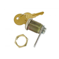 Lock key hole 19mm in 22mm max 2 positions on off safety enclosure cabinet ref: ks10