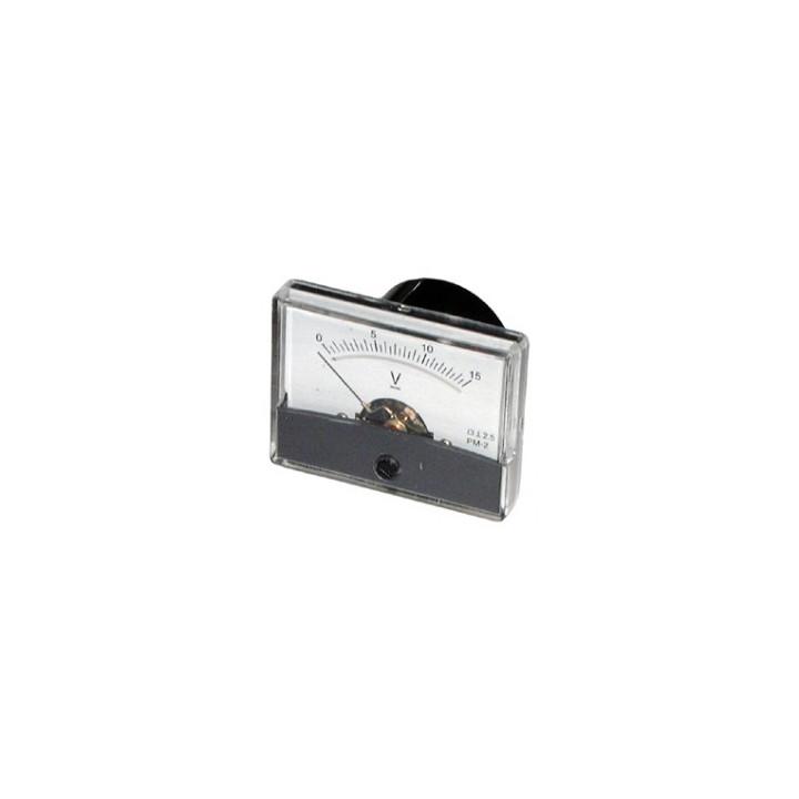 Voltmetro classe galvanometro 30v dc 2,5 dim: 60 x 47 fix mm: 32 x 32 rif: medp4830v