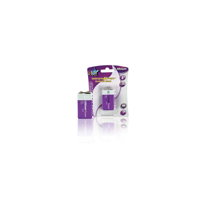 Pile electrique 9v lithium hq-lith-9v-01 em9v 6f22 6lf22 am6 6lr61 1604a 522 mn1604