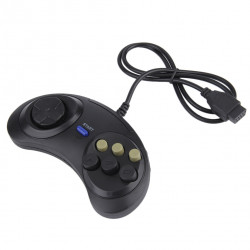 Six Buttoms Game handle Command Pad Plastic Accessories For Sega Megadrive