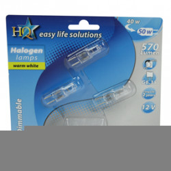 Pack of 3 halogen bulbs halo-e-safe caps g6.35 40 w
