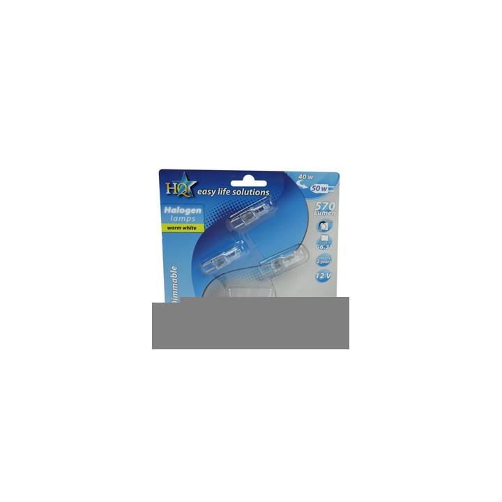 Paquete de 3 bombillas halógenas e-halo-tapas seguras g6.35 40 w