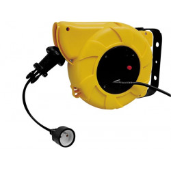 Retractable cable reel electric 15m extension cord earc15