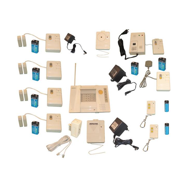 Kit allarme superprofessionale senza filo 3 modi di detezione 433mhzi super pro sistema allarme senza filo casa negozio deposito
