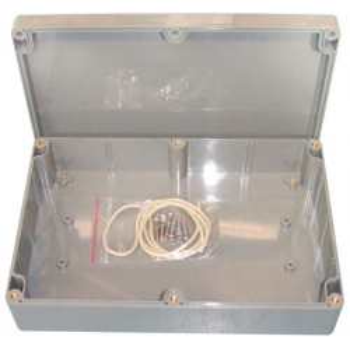 Custodia stagna ip65 222x146x55mm abs grigio scanalature di montaggio ammortizzatori g317 antipolvere
