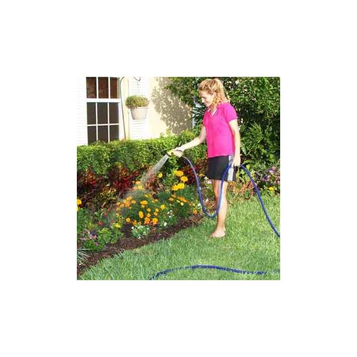 Estensibili tubo di irrigazione tubo x 22.5m+ pistola a spruzzo retrattili ritrae xhose giardino casa