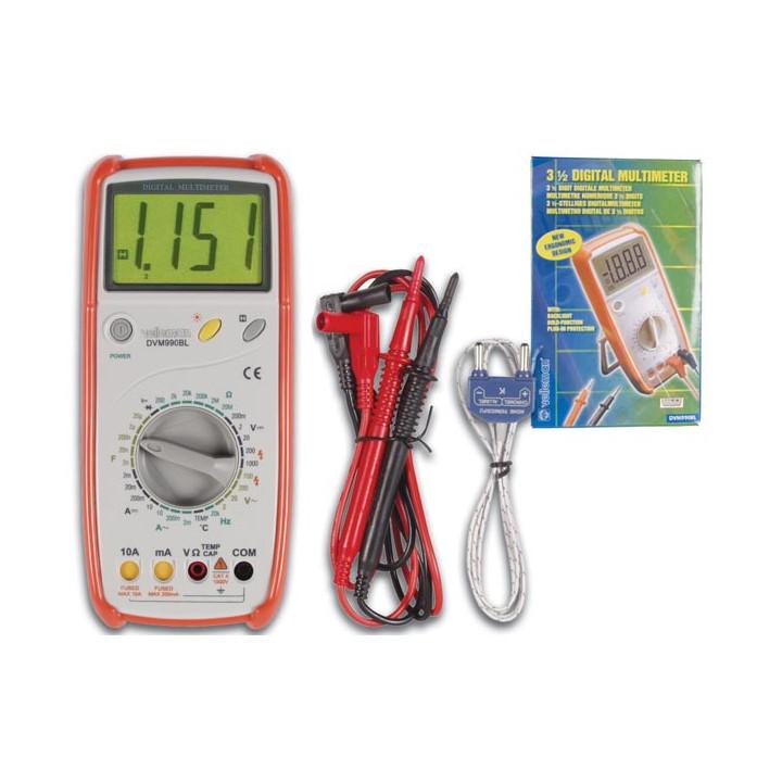 Multimetre 3 1 2 digits avec protection d erreur mesure dvm990bl