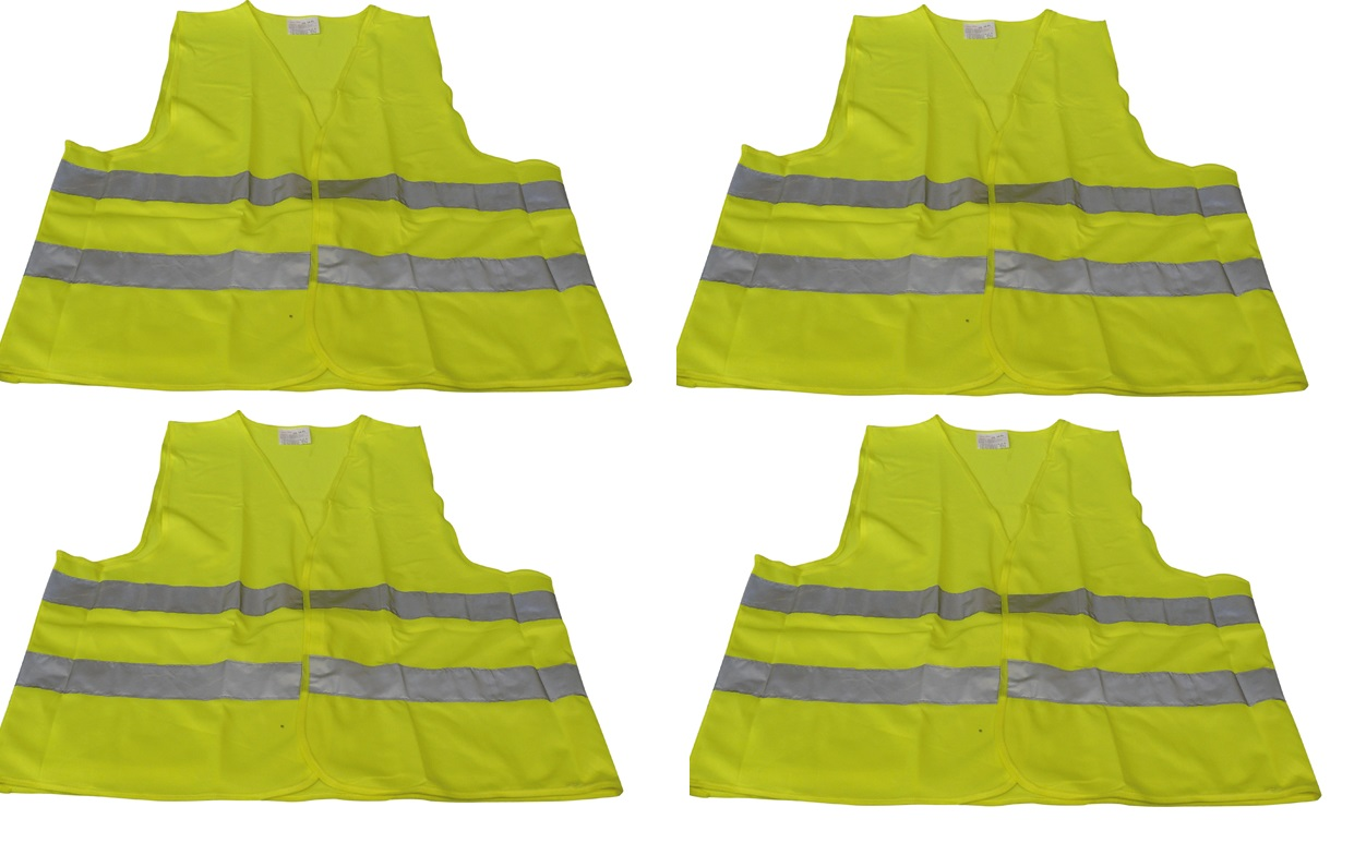 Chaleco de seguridad amarillo que refleja este EN-471 T//XL