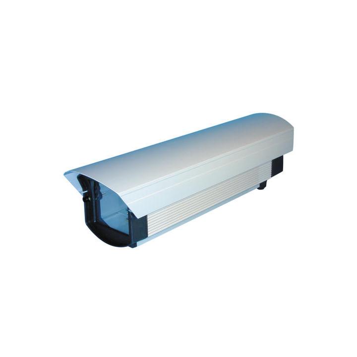 Caja hermetica con termostato 110x105x380mm 12v pih5040 cajas exteriores hermeticas camaras videos vigilancia video