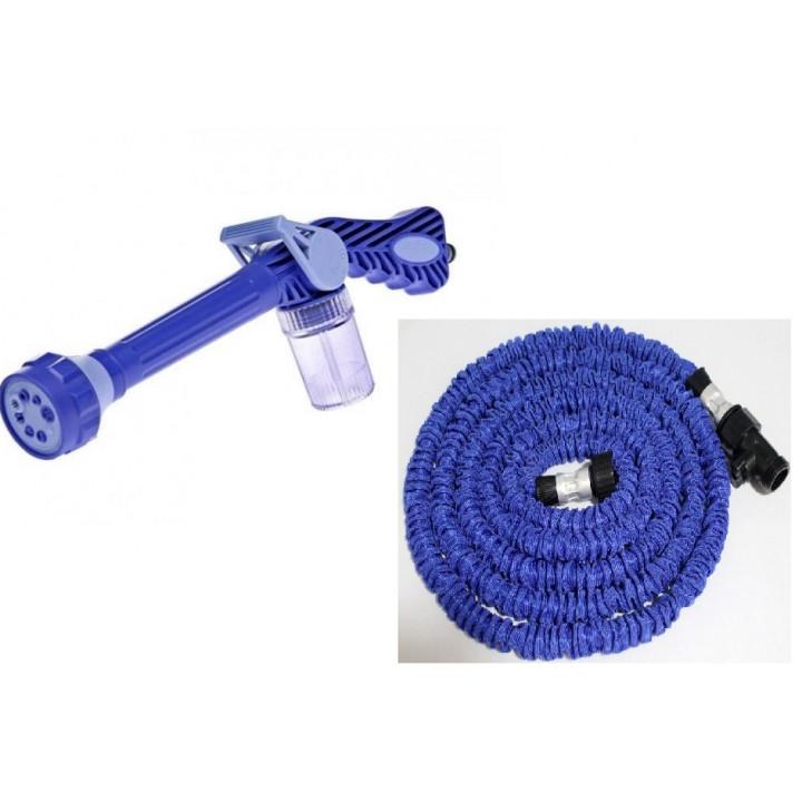 Tuyau arrosage extensible xhose 8m hose8 lance ezjet canon à eau réservoir intégré netoyage