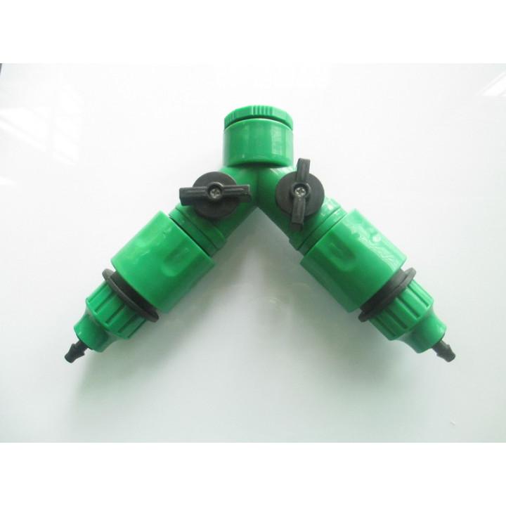 Raccord 1/4 tuyau irrigation 2 voies arrosage goutte à goutte x hose arroseur