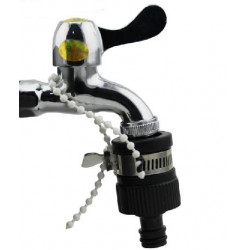 Universal quick connect faucet adapter intake nozzle types thief gardena clamp