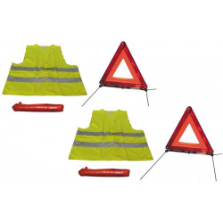 2 road safety kit r27 en11 warning triangle + reflective vest xl 471 in this