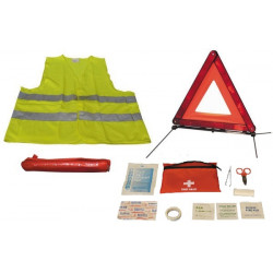 Road safety kit r27 en11 warning triangle + reflective vest xl 471 in this