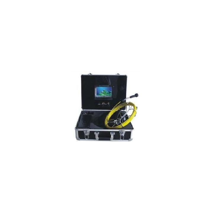 Cámara de vídeo en color de inspección de tuberías 20m usb llevó desbloqueo endoscopio tubo tec-z710