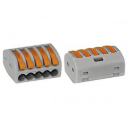 Connection terminal 5 x 4mm 0.08 for rigid conductors or gray
