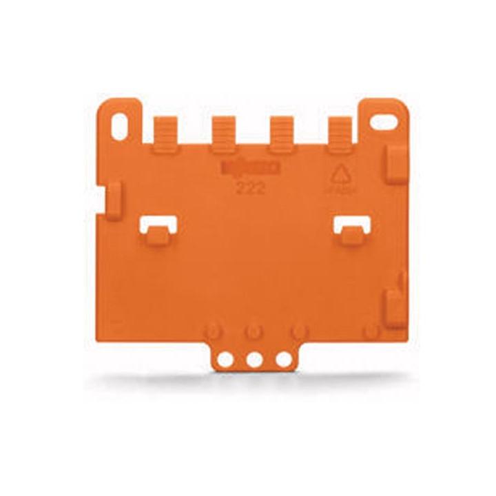 Plaque de décharge de traction encliquetable sur adaptateur de fixation wago wg222505