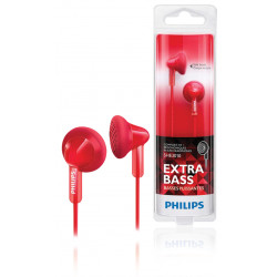 Mini action sports headphones made ??ultra lightweight red shq1200/10