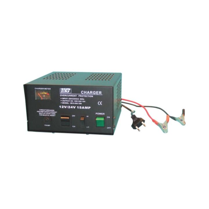 Cargador 220vca 12 24vcc 15 a (cofrecillo) cargador 220vca 12 24vcc 15 a automatico baterias recargables alimentacion