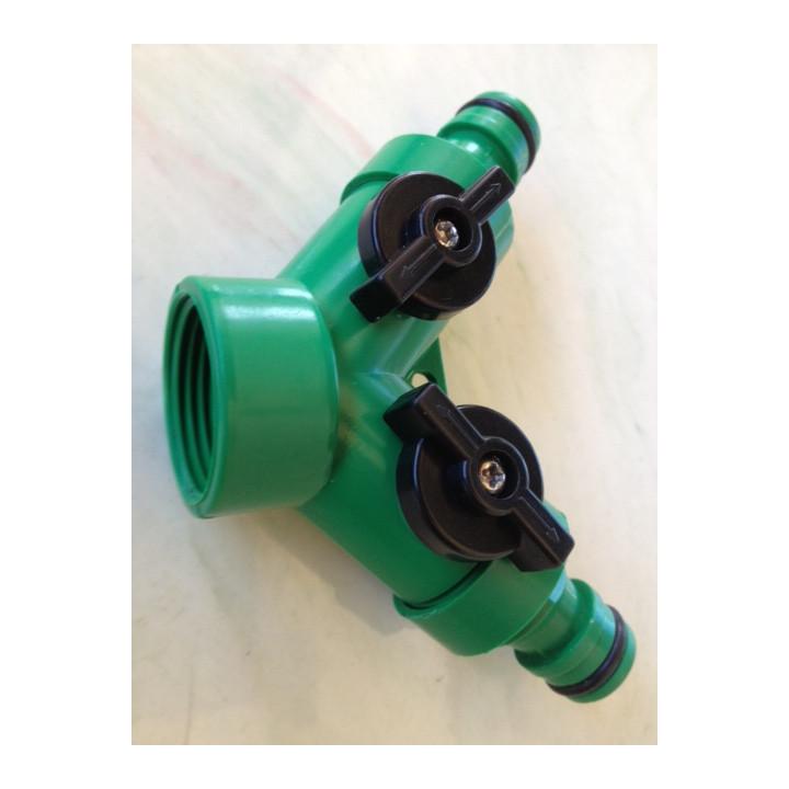 Gardena conexión rápida a presión conector de doble tramo de manguera hose8fr hose15fr hose23fr