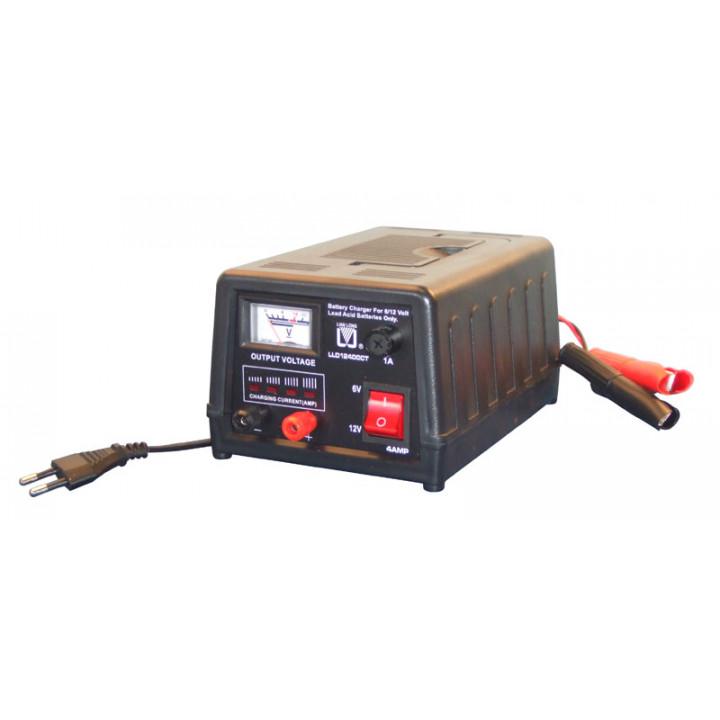 Cargador electronico bateria recargable coche automovil vehiculo 220vca 6 12vcc 4a (cofrecillo) cargadores electronicos