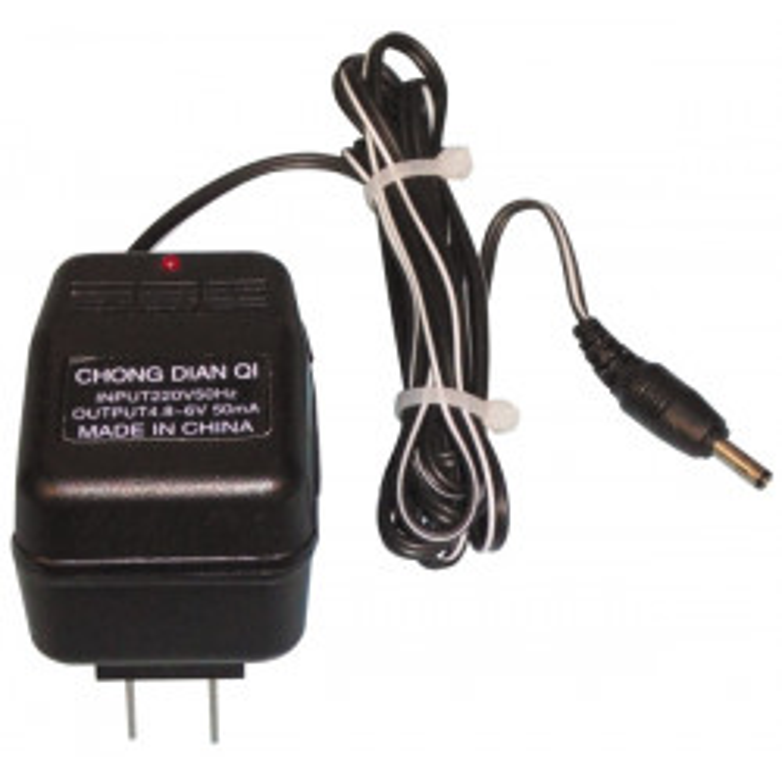 Cargador de bateria recargable 220vca 4,8 à 6vcc 50ma para matraque electrique matlr