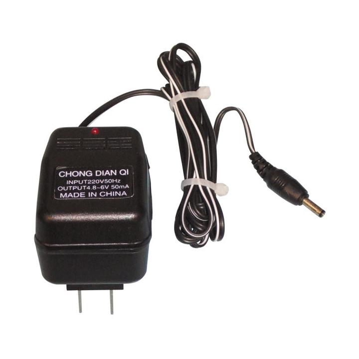 Ladegerat fur nachfullbare batterie 220vca 4.8 bis 6vcc 50ma fur elektrische knuppel