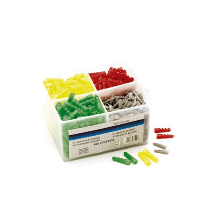 Assortimento di spine 5 6 7 8 mm (820pcs) 1210 820 perel nylon