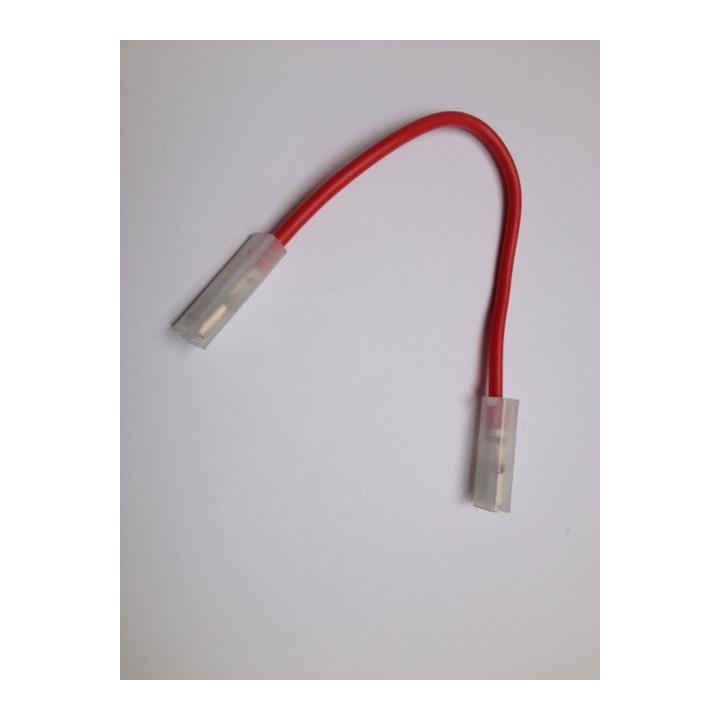 17cm red cord 2 faston 6.3 x 0.8 mm female to female 12v battery 6v battery 1ah, 6ah, 7ah