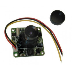 Camera ccd colous video camera 12vdc + lens on video circuit video surveillance equipement