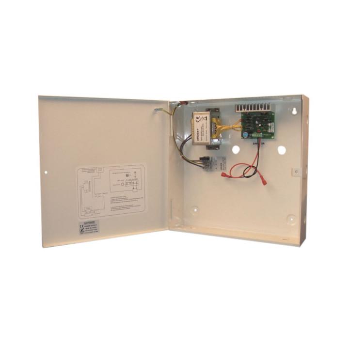Cargador electronico automatico bateria recargable 220vca 27.6vcc 1.5a (cofrecito caja metal)