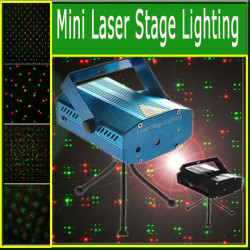Mini laser lighting red green light holographic h4354 multicolored light effect