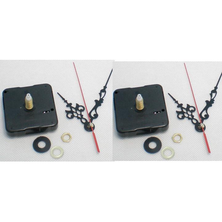 2 mecanisme d horloge a quartz avec aiguilles axe 8mm compatible 4mm 5mm pas de clip fixation au mur