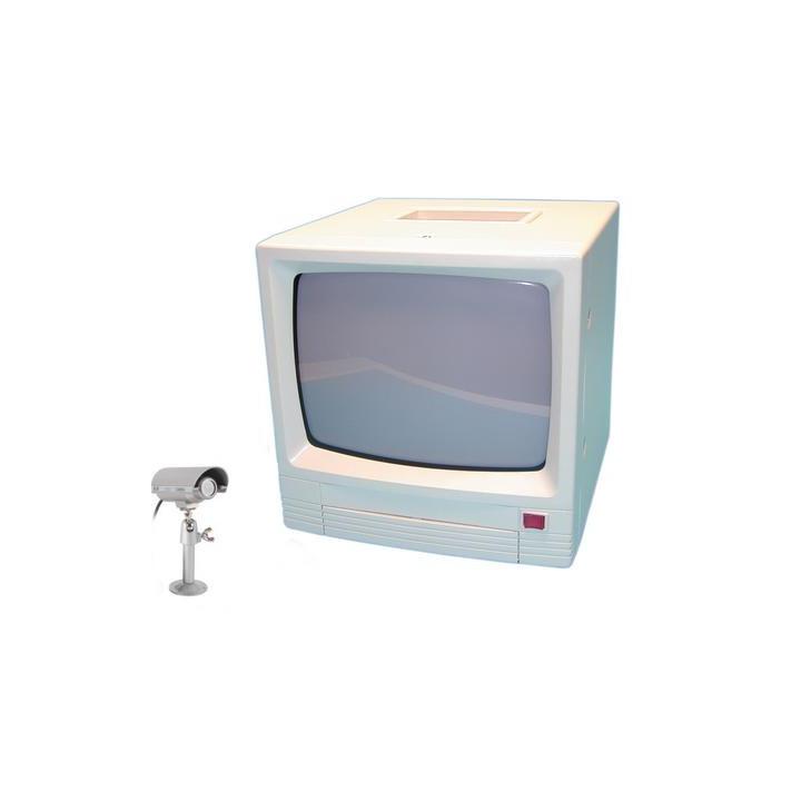 Kit vigilancia vídeo 2 canales 1 cámara cinematográfica estanca(restaäa) 1 maestro(monitor) vigilancia vídeo vigilancia vídeo
